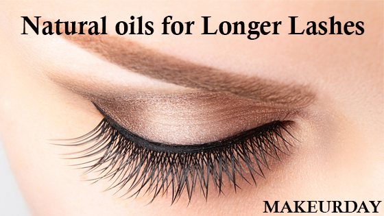 Natural oils for longer lashes